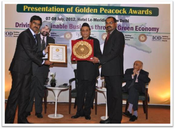 The world Environment foundation has recognized GVK BIA to become the first airport to win the Golden Peacock Award for their excellent work on environmental management.