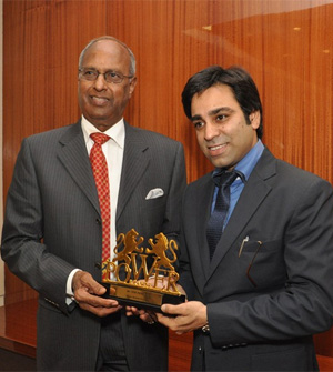 Dr. GVK Reddy Honored with the POWERBRANDS hall of fame corporate luminary of the year award – 2012