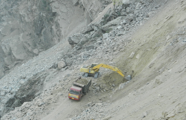 Excavation at DT inlet portal-2
