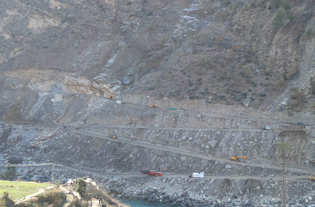 Road Construction to Diversion Tunnel and Power Intake