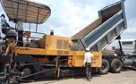 Machines in action at Bagodara-Vasad Expressway Project