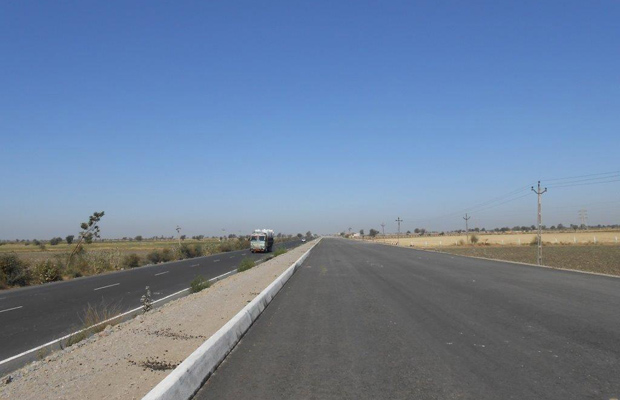 Completed road patch on the expressway