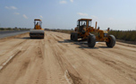 Subgrade work in progress on the expressway