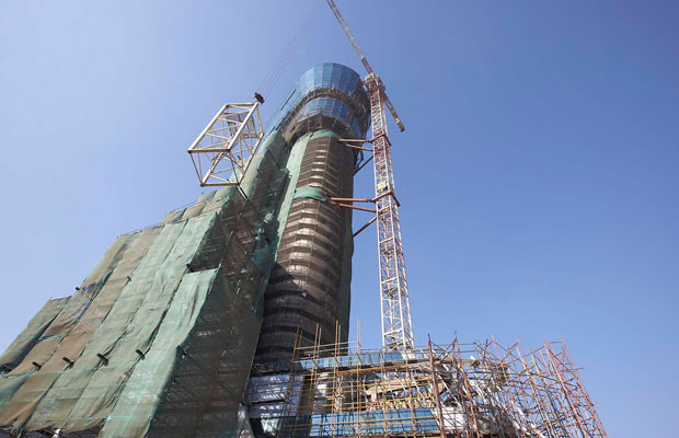 Elevation work of ATC Tower at GVK CSIA in progress