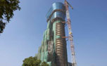 ATC tower facade work under progress at GVK CSIA