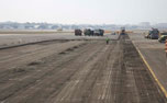 Runway construction in progress at GVK CSIA