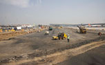 Panorama of Airside construction activites at GVK CSIA