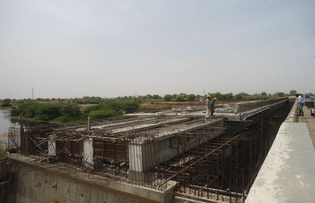 Major bridge being constructed as part of the project