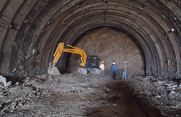 Tunnel Deoli End RHS Mucking under progress